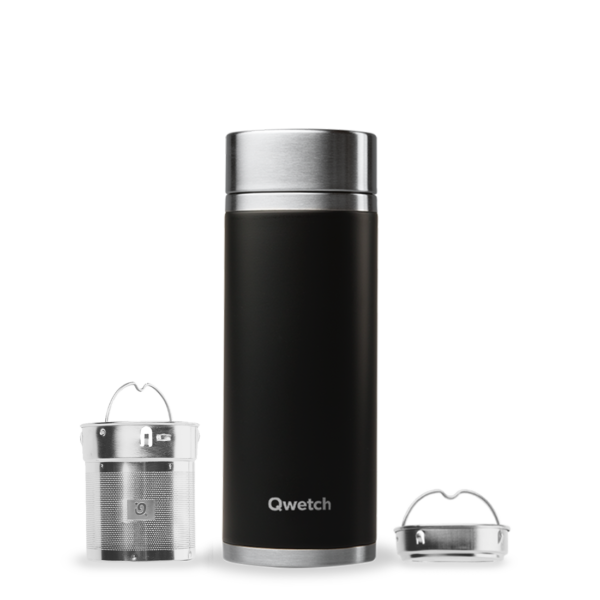 theiere isotherme inox noire