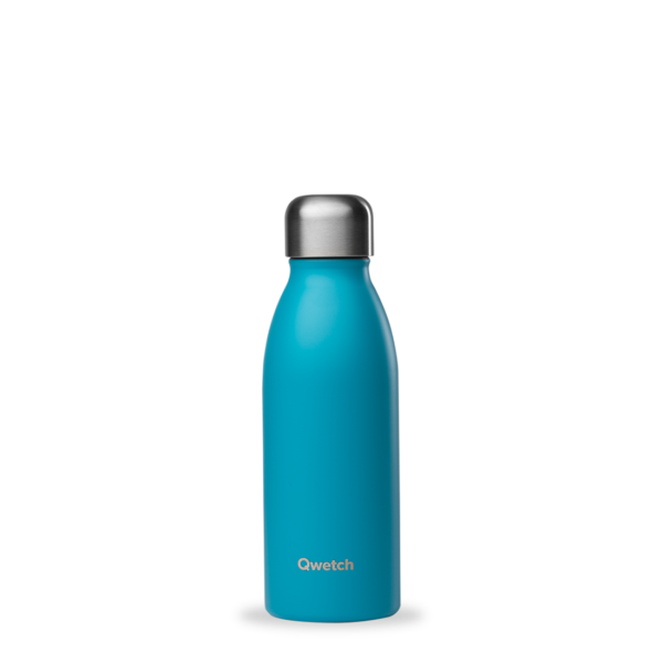 Bouteille non isotherme turquoise personnalisée