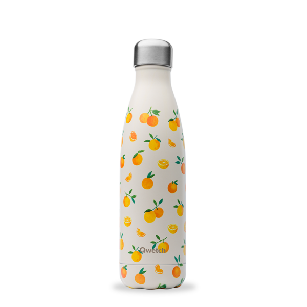 Bouteille isotherme printemps agrume orange