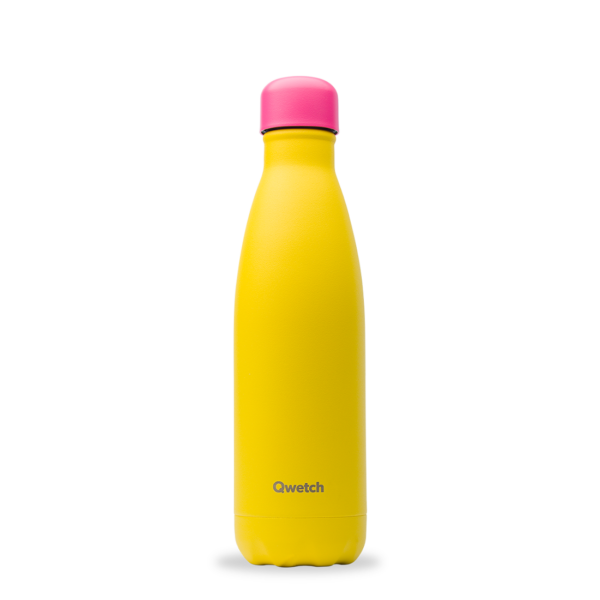 Bouteille isotherme Colors Jaune - Qwetch
